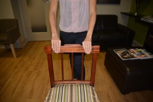 Tennis elbow chair lift test